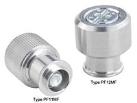 Large knob, spring-loaded –Types PF11MF and PF12MF Metric only