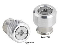 Large knob, spring-loaded – Types PF11 and PF12 Metric