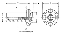 Self-Clinching Blind Fasteners - Types B, BS 2