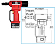 ATLAS® RIV 790 14.4V Lithium Battery Operated Tool