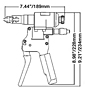 ATLAS® RIV905 Hydraulic Hand Tool Drawing