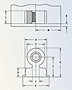 Steel Threaded Right Angle Fastener 2